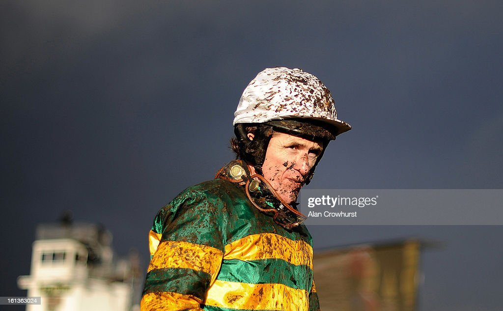 Jockey Tony McCoy poses at Exeter racecourse on February 10, 2013 in Exeter, England.