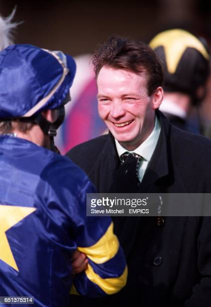 Jockey Vince Slattery talks to to an owner