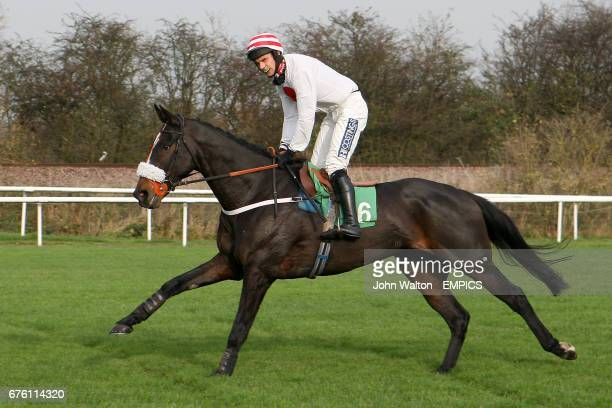 Jockey William Kennedy on Kimi during the Freebetscouk Free Bets 'National Hunt' Novices' Hurdle