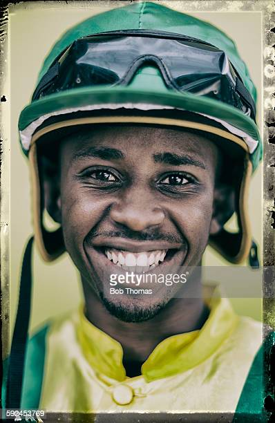 Jockey with Helmet and Goggles