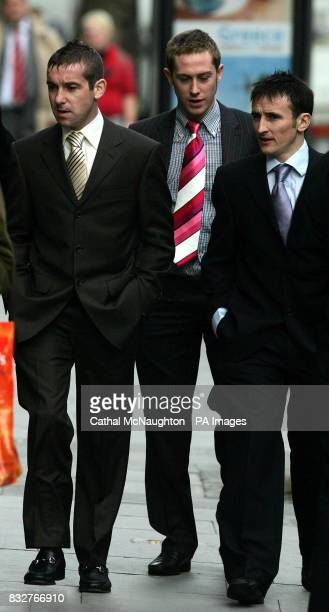 Jockeys Robert Winston Luke Fletcher and Fran Ferris arrive at the HRA on Shaftesbury Avenue London