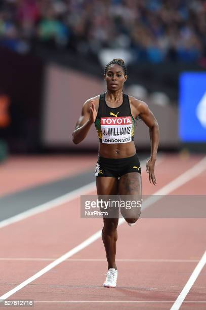 Jodean WILLIAMS Jamaica during 200 meter heats in London at the 2017 IAAF World Championships athletics on August 8 2017