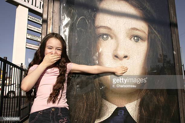 Jodelle Ferland during Actress Jodelle Ferland 11yearold star of TriStar Pictures' upcoming suspense/horror release 'SILENT HILL' poses before the...