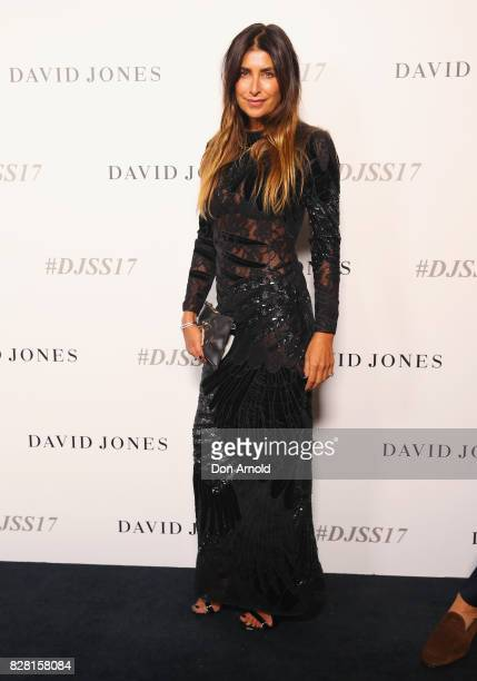 Jodhi Meares arrives ahead of the David Jones Spring Summer 2017 Collections Launch at David Jones Elizabeth Street Store on August 9 2017 in Sydney...