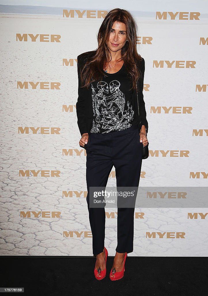 <a gi-track='captionPersonalityLinkClicked' href=/galleries/search?phrase=Jodhi+Meares&family=editorial&specificpeople=691988 ng-click='$event.stopPropagation()'>Jodhi Meares</a> arrives at the Myer Spring/Summer 2014 Collections Launch at Fox Studios on August 8, 2013 in Sydney, Australia.