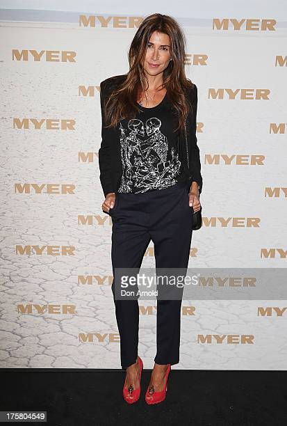 Jodhi Meares arrives at the Myer Spring/Summer 2014 Collections Launch at Fox Studios on August 8 2013 in Sydney Australia