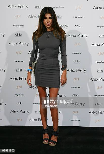 Jodhi Meares attends the Alex Perry show on the second day of Rosemount Australian Fashion Week Spring/Summer 2010/11 offsite at Fox Studios on May 4...
