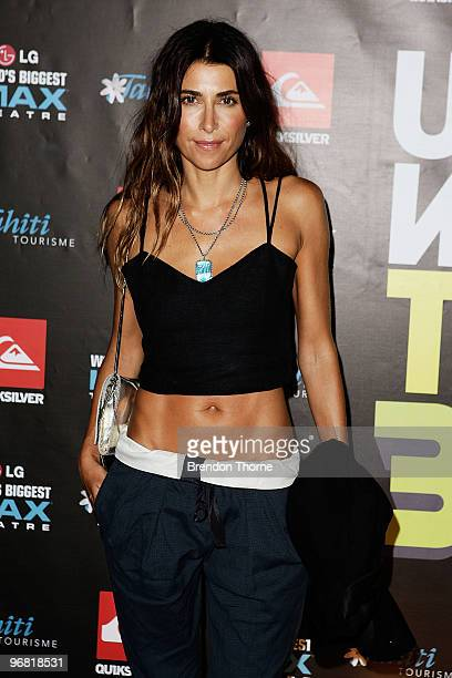 Jodhi Meares attends the Sydney premiere of Kelly's Slater's new surf documentary 'Ultimate Wave Tahiti' at the IMAX Darling Harbour on February 18...