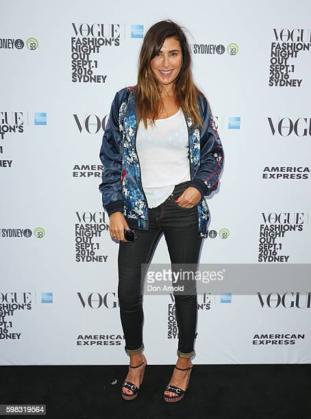 Jodhi Meares poses during Vogue American Express Fashion's Night Out on September 1 2016 in Sydney Australia