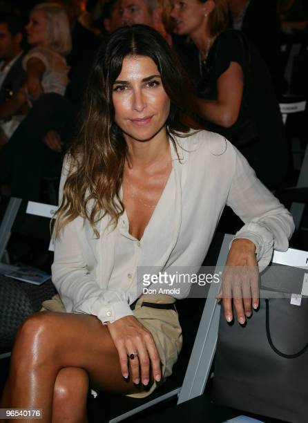 Jodhi Meares sits front row just prior to the David Jones Autumn/Winter 2010 Fashion Launch at Hordern Pavilion on February 10 2010 in Sydney...