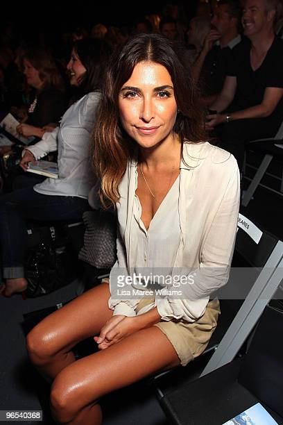 Jodhi Meares sits in the front row during the David Jones Autumn/Winter 2010 Fashion Launch at the Hordern Pavilion on February 10 2010 in Sydney...