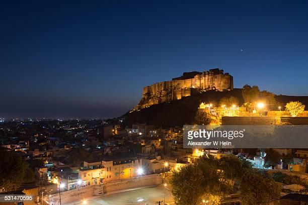 Jodhpur at night