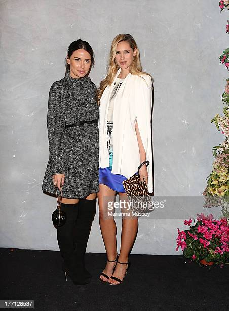 Jodi Anasta and Nikki Phillips at the Strand Arcade's annual evening with designers at the Strand Arcade on August 21 2013 in Sydney Australia