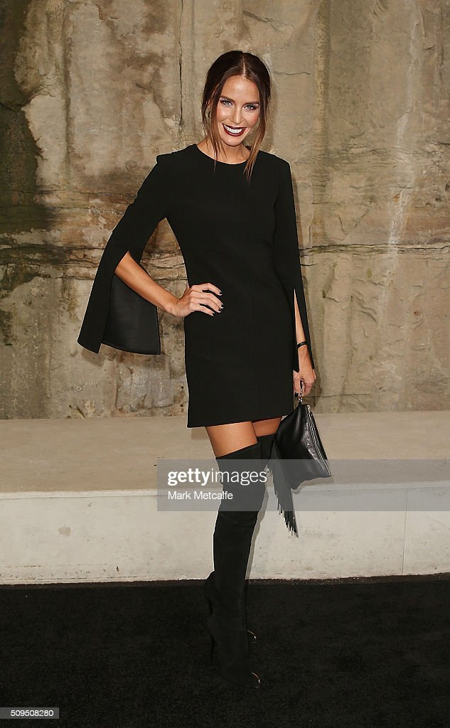 Jodi Anasta arrives ahead of the Myer AW16 Fashion Launch on February 11, 2016 in Sydney, Australia.
