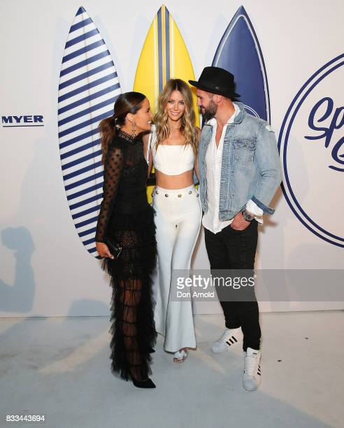 Jodi Anasta Jennifer Hawkins and Kris Smith attend the Myer 'Spring Social' Night Event at Bronte Surf Life Club on August 17 2017 in Sydney Australia