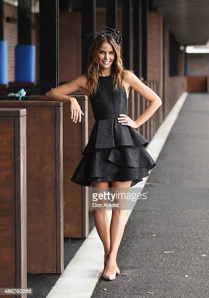 Jodi Anasta poses during the 2015 Sydney Spring Carnival launch at Royal Randwick Racecourse on September 3 2015 in Sydney Australia
