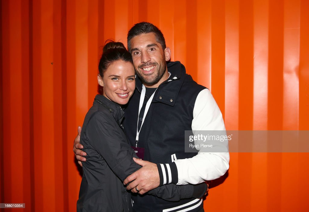 Jodi and <a gi-track='captionPersonalityLinkClicked' href=/galleries/search?phrase=Braith+Anasta&family=editorial&specificpeople=206211 ng-click='$event.stopPropagation()'>Braith Anasta</a> during Nike She Runs 10k at Centennial Park on May 4, 2013 in Sydney, Australia.
