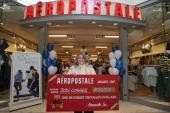 Jodi Cossell winner of the AEROPOSTALE $100000 sweepstakes at the Alderwood Mall Store in Lynnwood Washington on Thursday February 1 2007 Jodi poses...