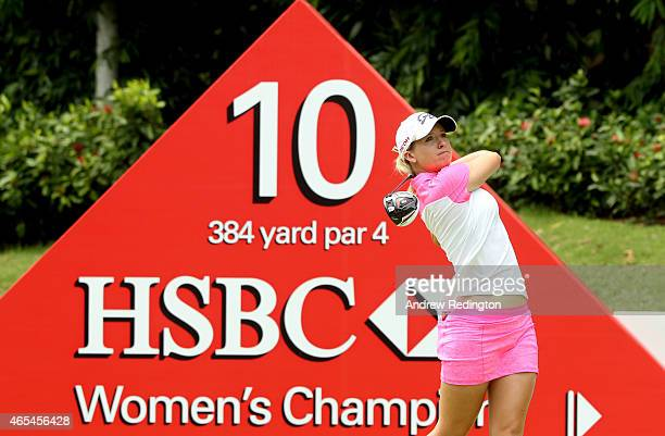 Jodi Ewart Shadoff of England in action during the third round of the HSBC Women's Champions at Sentosa Golf Club on March 7 2015 in Singapore...