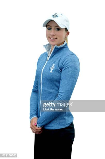 Jodi Ewart Shadoff of Europe poses for a portrait following the announcement of the 2017 Solheim Cup Europe and USA teams at Kingsbarns Golf Links on...