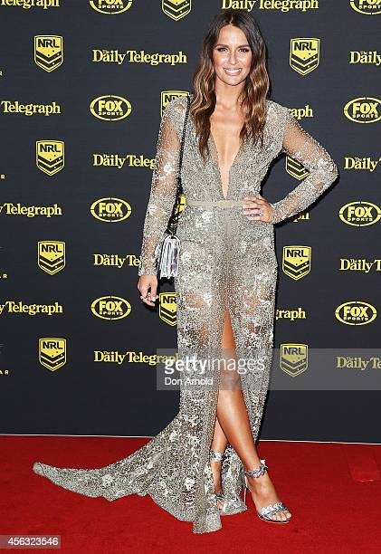 Jodi Gordon arrives at the Dally M Awards at Star City on September 29 2014 in Sydney Australia