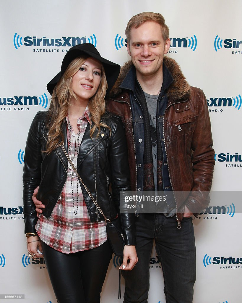 Jodi King and Chris Rademaker of Love & The Outcome visit the SiriusXM Studios on April 15, 2013 in New York City.