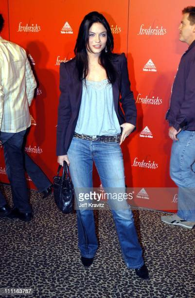 Jodi Lyn O'Keefe during Frederick's of Hollywood Debuts Fall 2003 Collection at Smashbox Studios in Culver City CA United States