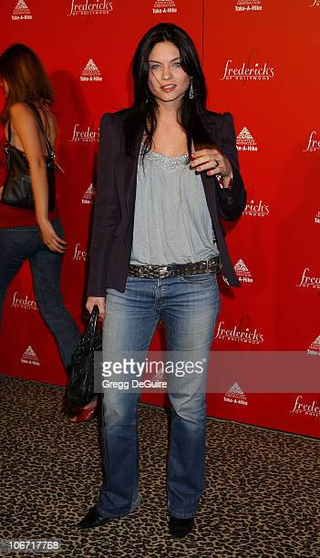 Jodi Lyn O'Keefe during Smashbox Fashion Week Los Angeles Frederick's of Hollywood Fashion Show Fall 2003 Collection to benefit Expedition...