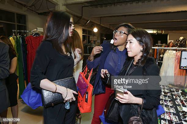 Jodi Lyn O'Keefe Taraji P Henson and Sueann Han attend the Nescafe Dolce Gusto Lounge at Divine Design on December 5 2013 in Beverly Hills California