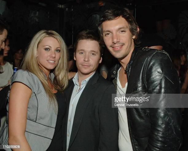 Jodi Myers Kevin Connolly and Lukas Haas attend Danny A's birthday celebration at The Bank Nightclub at Bellagio Hotel and Casino on June 7 2008 in...