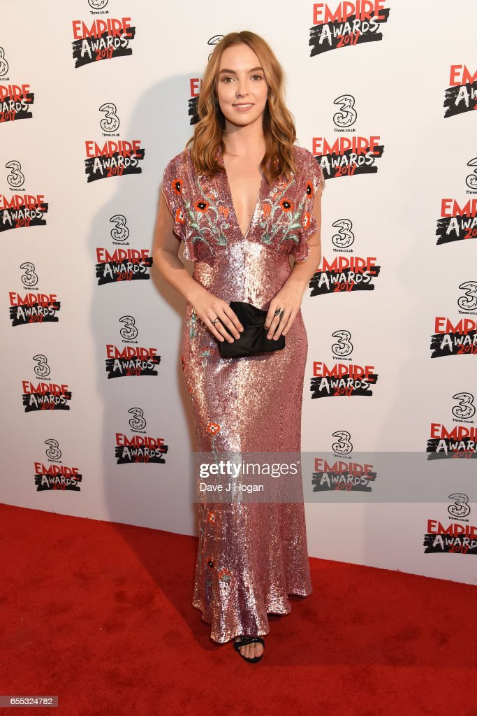 Jodie Comer attends the THREE Empire awards at The Roundhouse on March 19, 2017 in London, England.