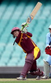 Jodie Fields during the WNCL Final match between the NSW Breakers and the Queensland Fire at the Sydney Cricket Ground on January 13 2013 in Sydney...
