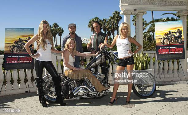 Jodie Fisher Sheree Wilson Thomas Blankenship Phil Pitzer and Brittney Shelstad pose at American Film Market's 'Easy Rider The Ride Back' at the...