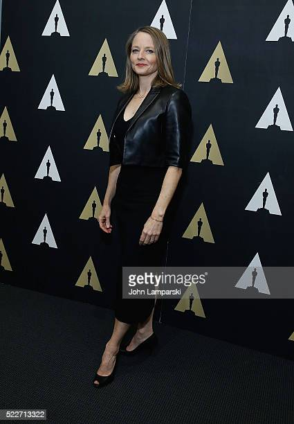 Jodie Foseter attends the Academy Museum Presents 25th Anniversary event of 'Silence of the Lambs' at The Museum of Modern Art on April 20 2016 in...
