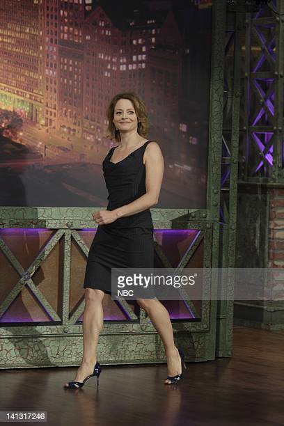 LENO Jodie Foster Air Date 3/31/08 Episode 3525 Pictured Actress Jodie Foster arrives on March 31 2008 Photo by Paul Drinkwater/NBCU Photo Bank