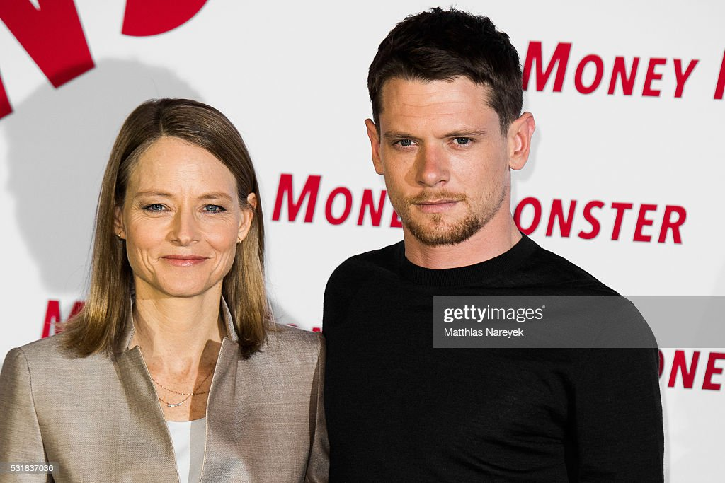 Jodie Foster and Jack O'Connel during the photocall for the film 'Money Monster' at Hotel Adlon on May 17 2016 in Berlin Germany