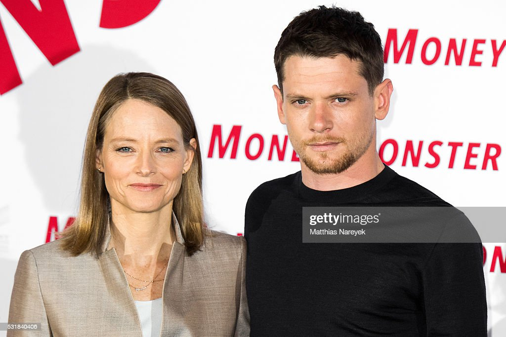 Jodie Foster and Jack O'Connell during the photocall for the film 'Money Monster' at Hotel Adlon on May 17 2016 in Berlin Germany