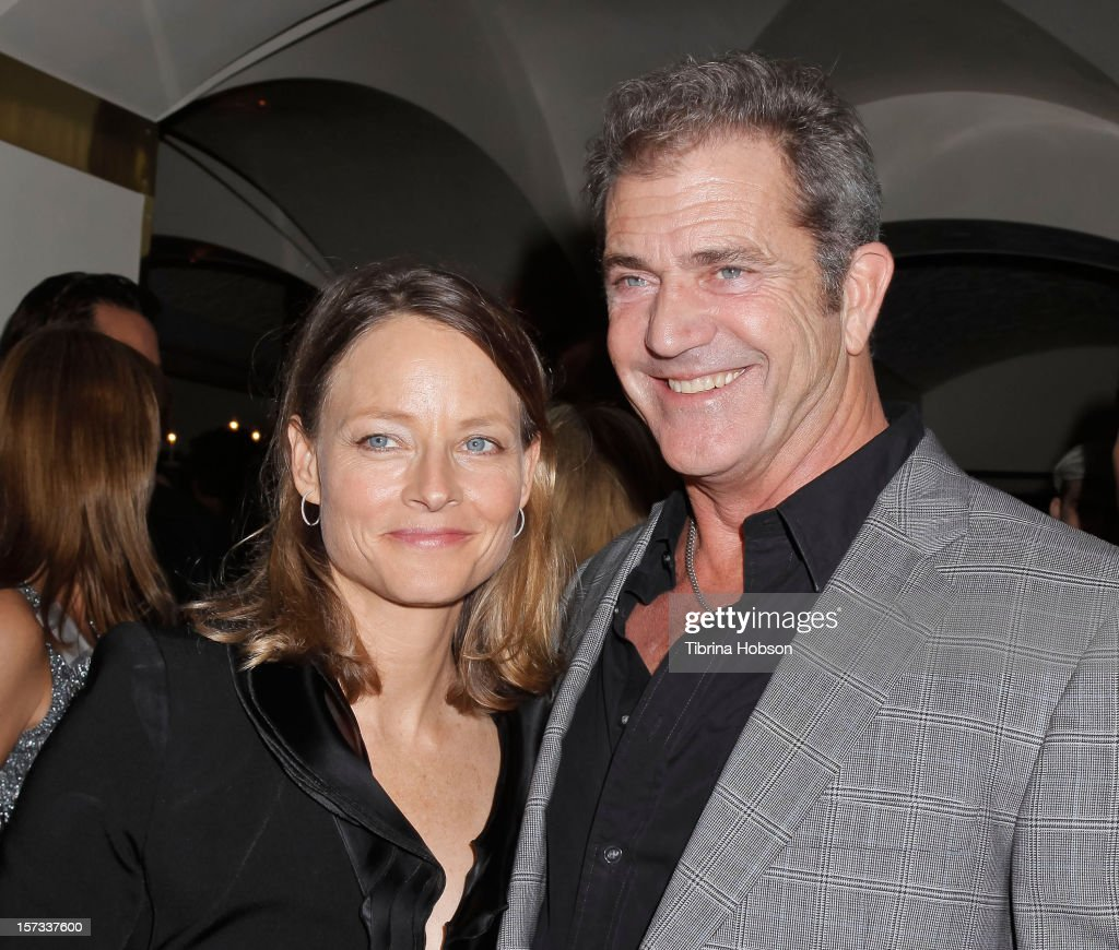 Jodie Foster and Mel Gibson attend the Mending Kids International celebrity poker tournament at The London Hotel on December 1, 2012 in West Hollywood, California.