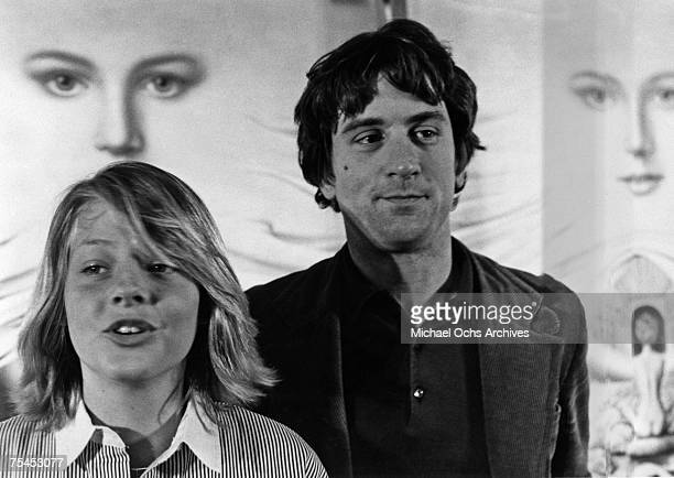 Jodie Foster and Robert De Niro answer questions at the Cannes International Film Festival in 1976 in Cannes France