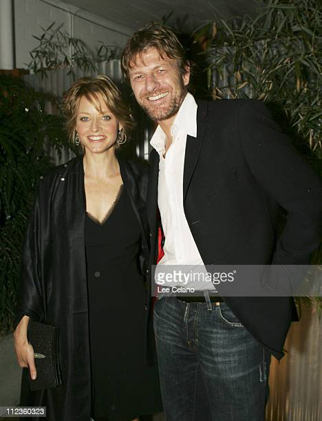Jodie Foster and Sean Bean during 'Flightplan' Los Angeles Premiere After Party at El Capitan Theatre in Hollywood California United States