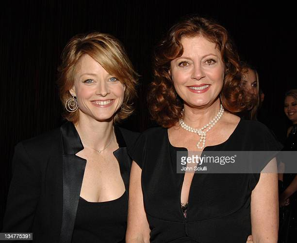 Jodie Foster and Susan Sarandon during 9th Annual Hollywood Film Festival Awards Gala Ceremony Red Carpet at Beverly Hilton in Los Angeles California...