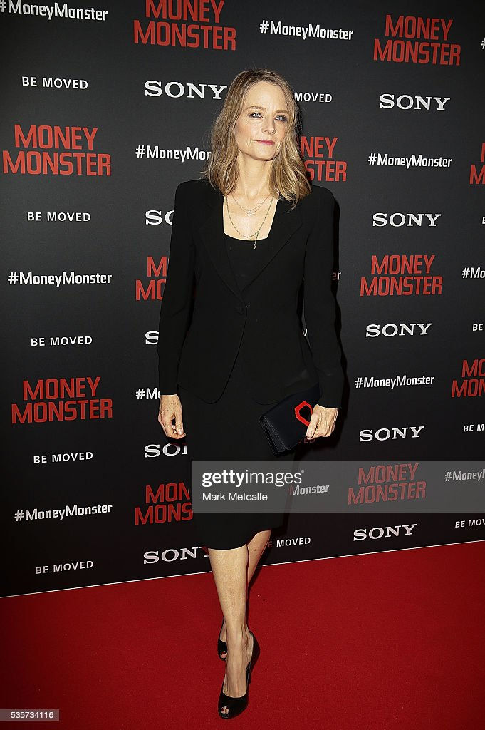 Jodie Foster arrives ahead of the Money Monster Australian Premiere at Event Cinemas George Street on May 30, 2016 in Sydney, Australia.