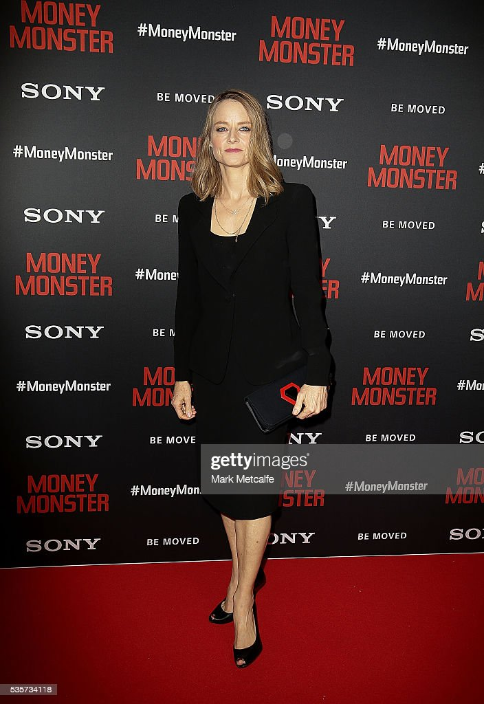 <a gi-track='captionPersonalityLinkClicked' href=/galleries/search?phrase=Jodie+Foster&family=editorial&specificpeople=204488 ng-click='$event.stopPropagation()'>Jodie Foster</a> arrives ahead of the Money Monster Australian Premiere at Event Cinemas George Street on May 30, 2016 in Sydney, Australia.