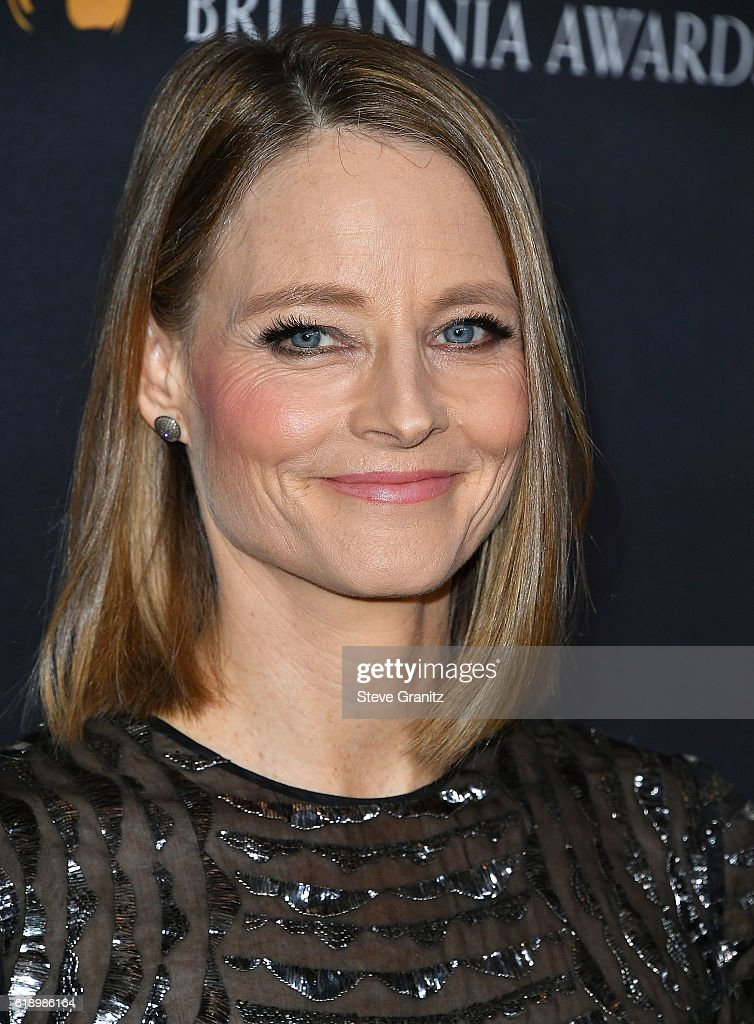 Jodie Foster arrives at the 2016 AMD British Academy Britannia Awards Presented by Jaguar Land Rover And American Airlines at The Beverly Hilton Hotel on October 28, 2016 in Beverly Hills, California.
