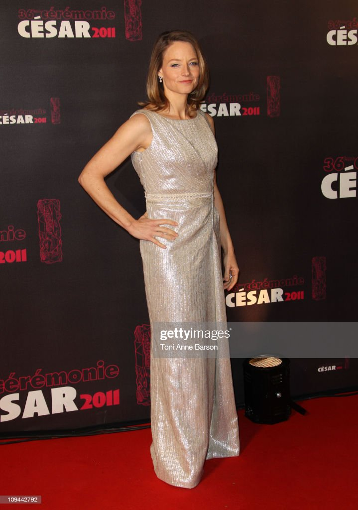 <a gi-track='captionPersonalityLinkClicked' href=/galleries/search?phrase=Jodie+Foster&family=editorial&specificpeople=204488 ng-click='$event.stopPropagation()'>Jodie Foster</a> arrives at the 36th Cesar Awards at Theatre du Chatelet on February 25, 2011 in Paris, France.