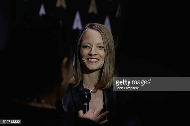 Jodie Foster attends the Academy Museum Presents 25th Anniversary event of 'Silence of the Lambs' at The Museum of Modern Art on April 20 2016 in New...