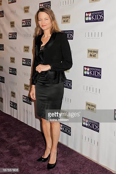 Jodie Foster attends the Mending Kids International celebrity poker tournament at The London Hotel on December 1 2012 in West Hollywood California