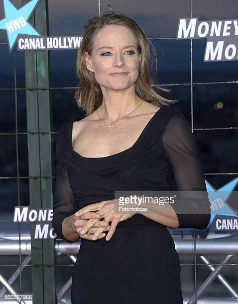 Jodie Foster attends the 'Money Monster' premiere at Picasso Tower roof on May 18 2016 in Madrid Spain