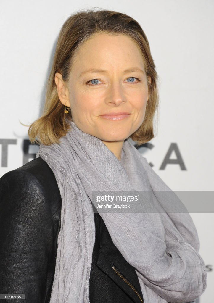 <a gi-track='captionPersonalityLinkClicked' href=/galleries/search?phrase=Jodie+Foster&family=editorial&specificpeople=204488 ng-click='$event.stopPropagation()'>Jodie Foster</a> attends the screening of 'Sunlight Jr.' during the 2013 Tribeca Film Festival at BMCC Tribeca PAC on April 20, 2013 in New York City.