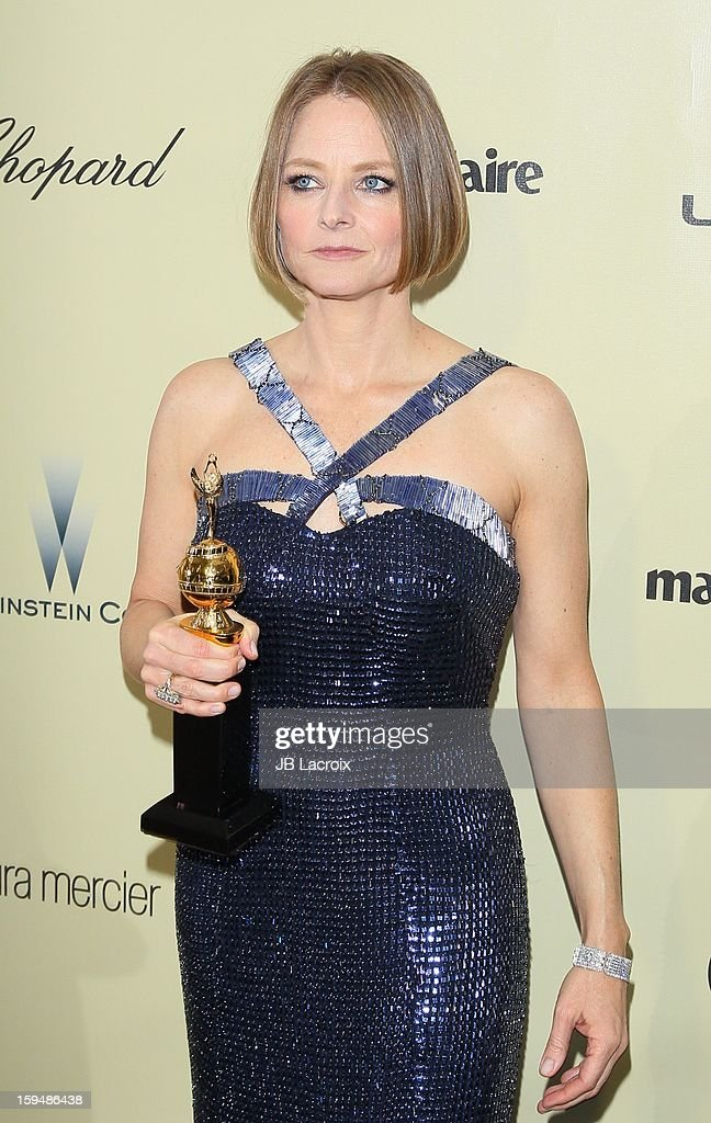 <a gi-track='captionPersonalityLinkClicked' href=/galleries/search?phrase=Jodie+Foster&family=editorial&specificpeople=204488 ng-click='$event.stopPropagation()'>Jodie Foster</a> attends The Weinstein Company's 2013 Golden Globes After Party at The Beverly Hilton Hotel on January 13, 2013 in Beverly Hills, California.